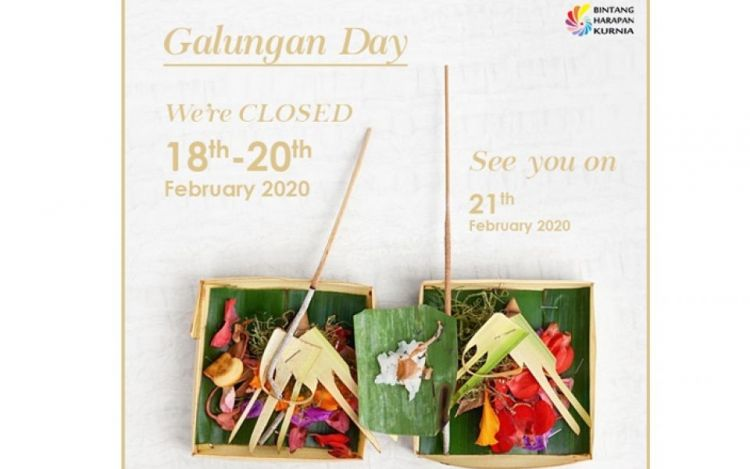Galungan Day Announcement